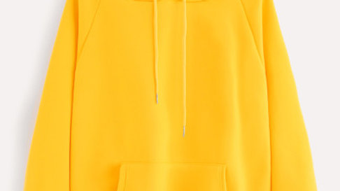 Raglan Sleeve Kangaroo Pocket Hoodie