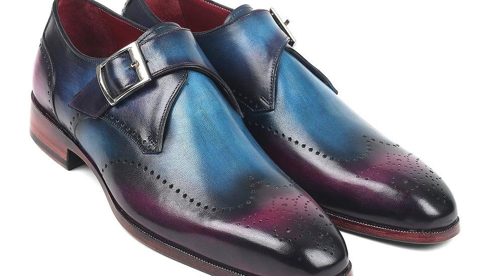 Paul Parkman Single Monkstraps Blue & Purple (ID#948-BLU-PRP)