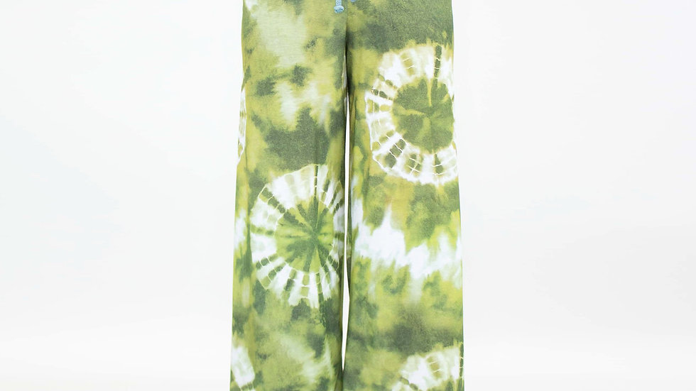 Wide Leg High Waist Tie Dye Maxi Pants