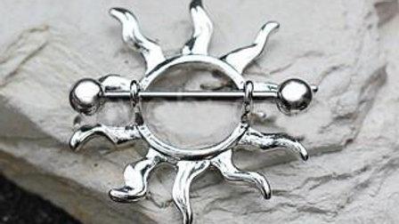 Stainless Steel Tribal Sun Nipple Shield
