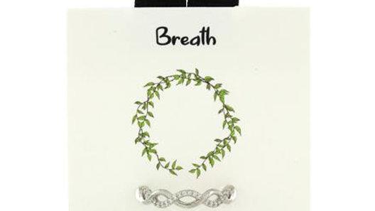 Breathe Adjustable  CZ Ring