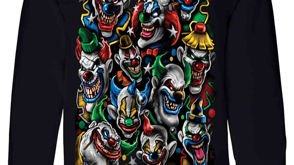 Unisex Long Sleeve Shirt Killer Clowns