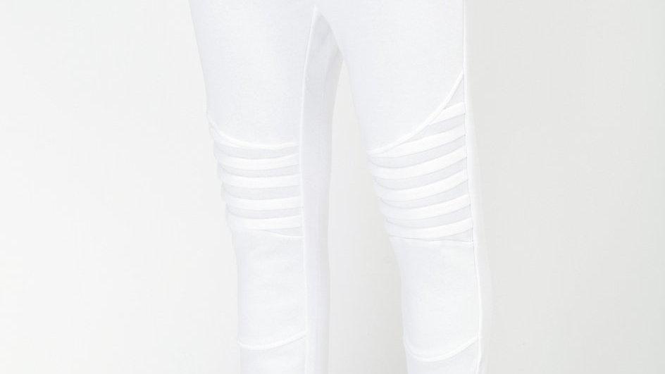 Konus Men's Biker Style Joggers in White