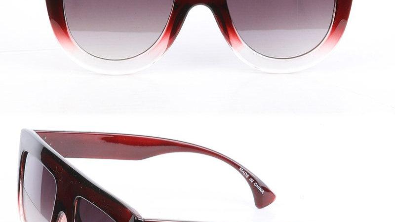 The Fashionista's Wine Flat Top Sunglasses