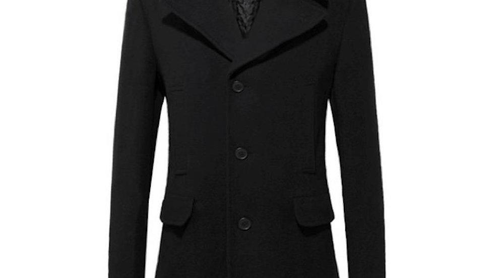 Mens Mid Length Wool Blend Coat