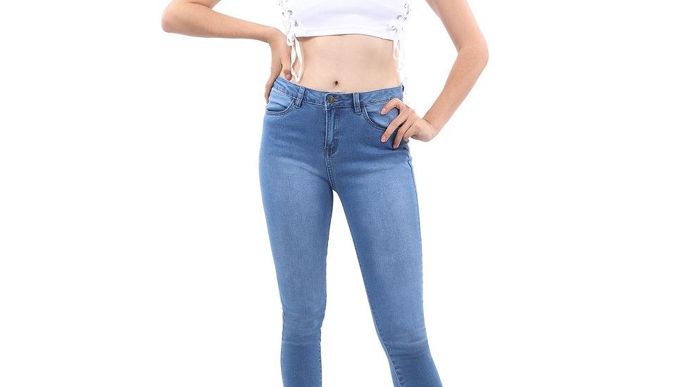 Talus High Waisted Skinny Jeans - Blue