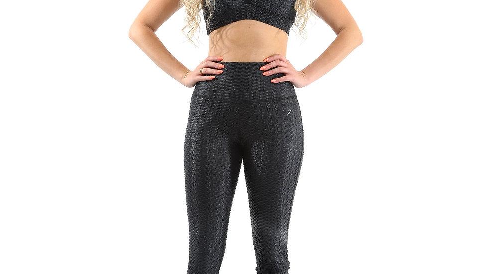 Genova Activewear Set - Leggings & Sports Bra - Black [MADE IN ITALY]