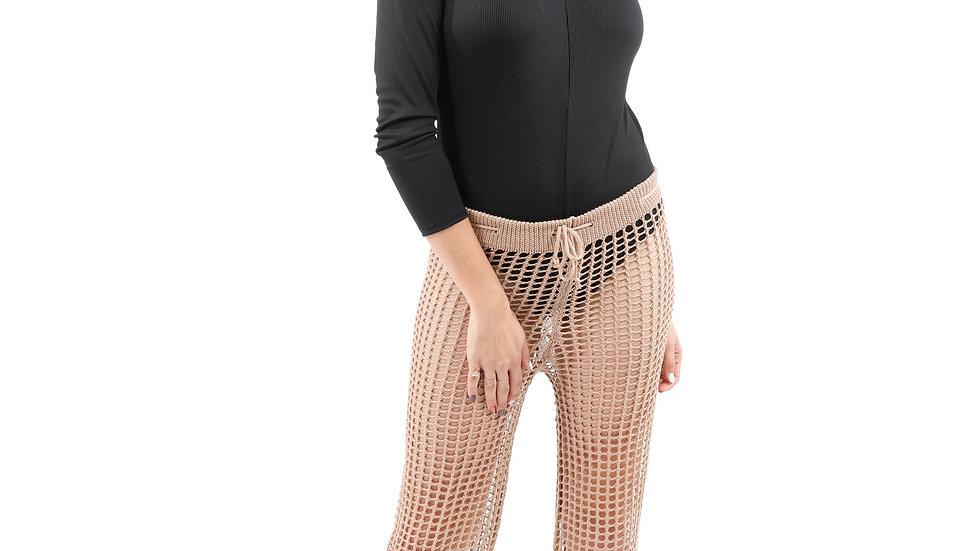 Maybrook Crochet Pant - Tan
