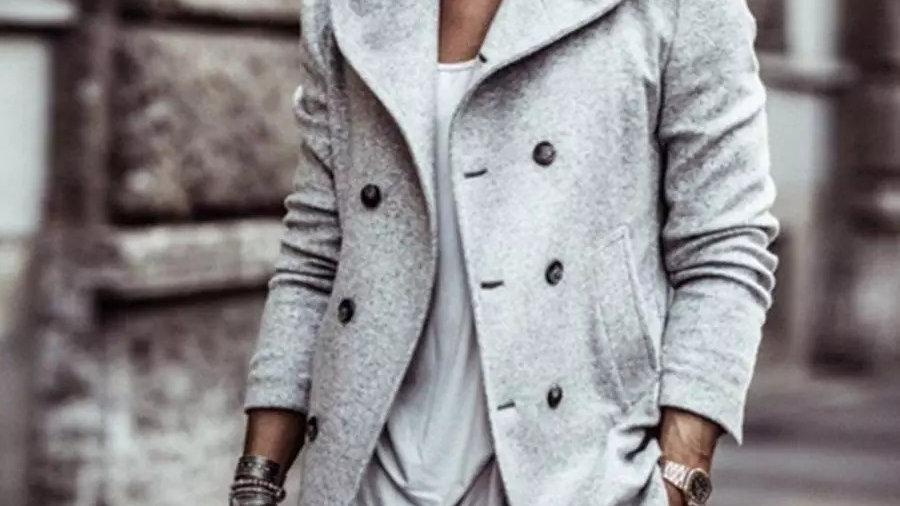 Men Hoodied woolen coat