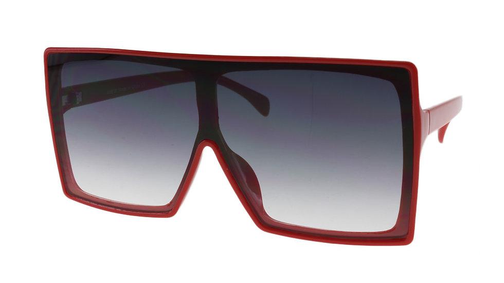 MQ Alva Sunglasses in Red / Smoke