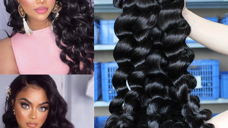 Loose Wave Brazilian Hair Bundles 100% Human Hair