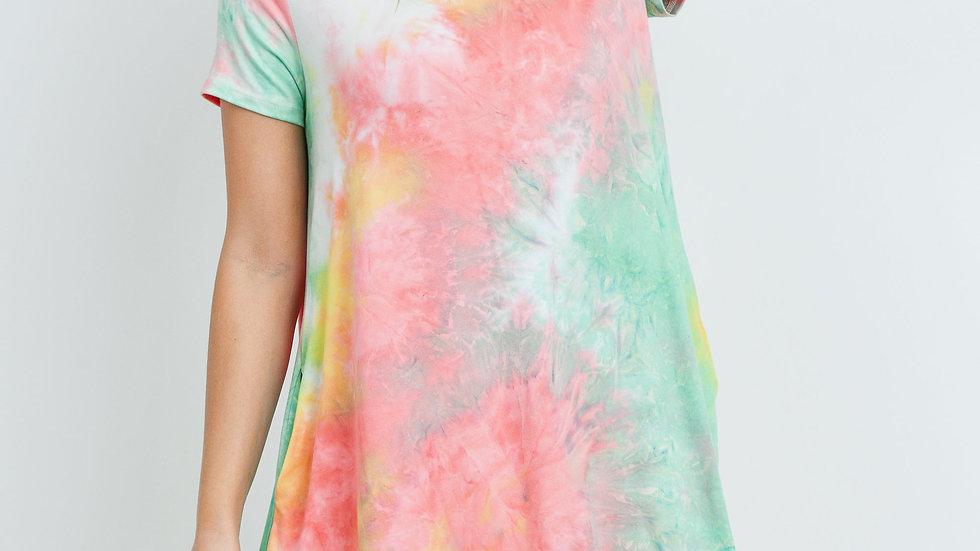 Tie Dye Cinch Waist Dress