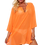 Thumbnail: Plus Size Chiffon Long Sleeve Swimwear Cover-Up Beach Dress Made in the USA