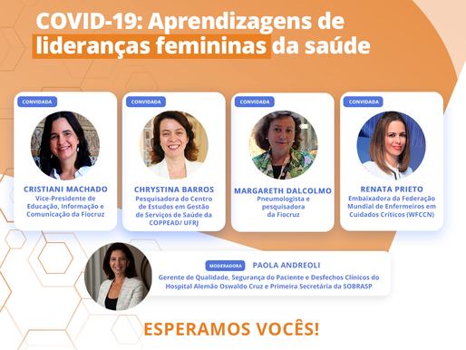 Webinar COVID-19: Aprendizagens de Lideranças femininas da Saúde