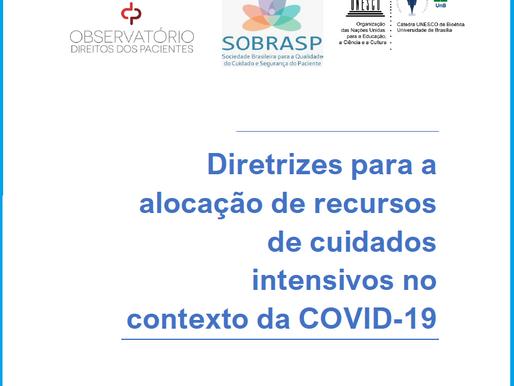 Diretrizes para a Alocação de Recursos de Cuidados Intensivos no contexto da COVID-19