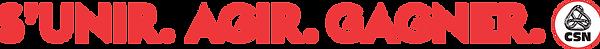 Logo S'UNIR AGIR GAGNER - Horizontal - C