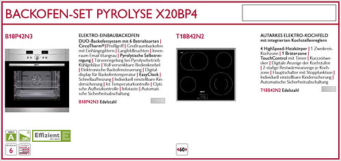 NEFF Set X40BP4 Pyrolyse