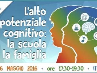 """Workshop gratuito a Roma """"L'Alto Potenziale Cognitivo: la scuola e la famiglia"""""""