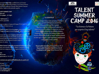 Il programma dei Laboratori per il Talent Summer Camp 2016