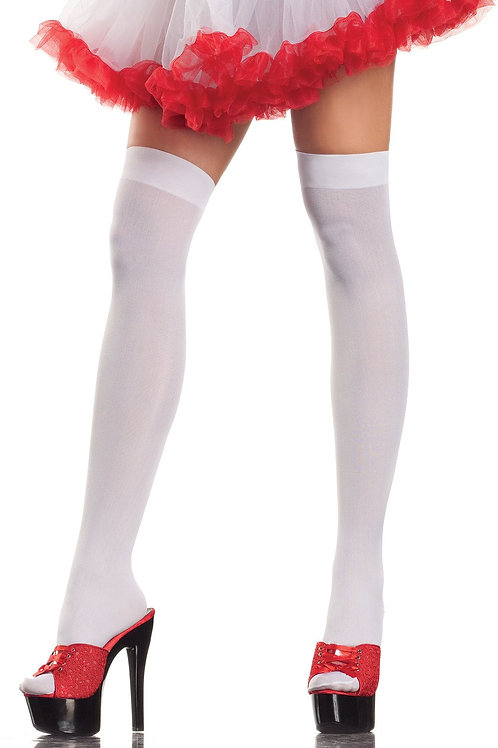 Opaque White Thigh High