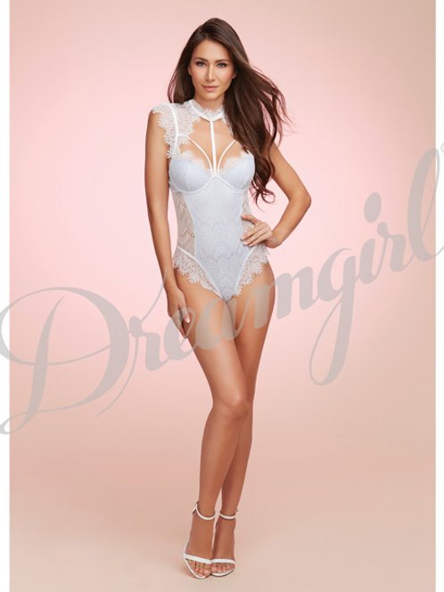 Bridal Stretch Satin Teddy