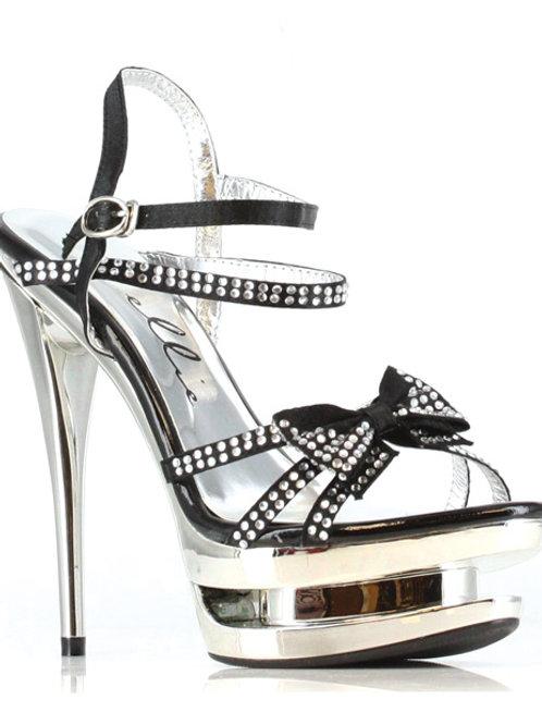 "Ellie Shoes Tess 6"" Rhinestone Strap Heel"