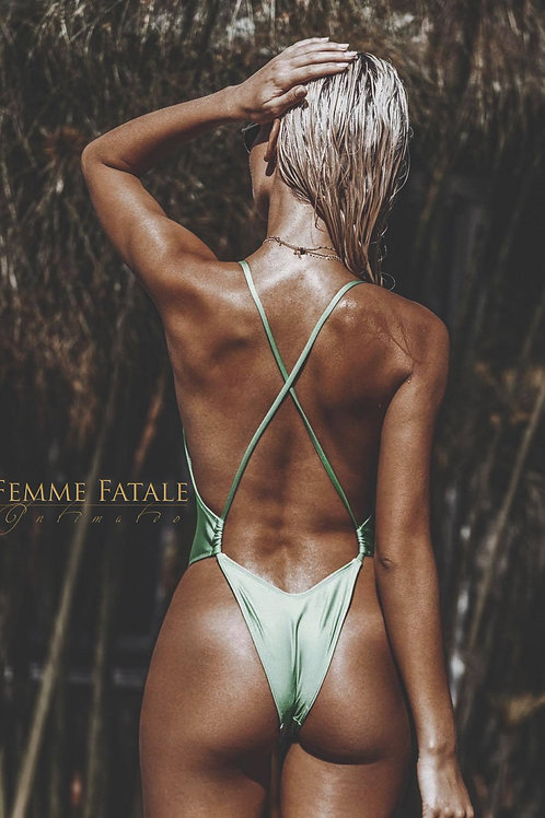 Paradise Shimmer SeaFoam One Piece