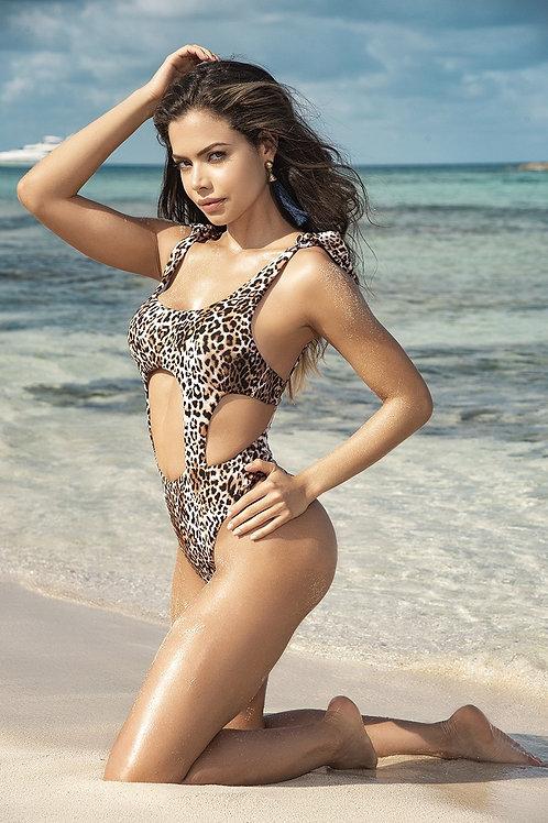 Leopard Suspender One piece