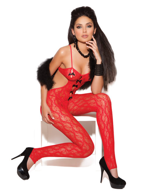 Red Bow Vivace Lace Bodystocking