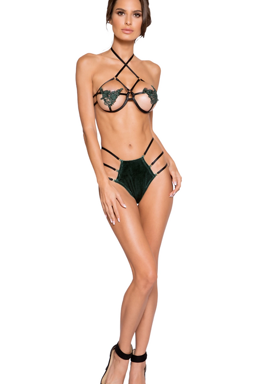 Caged Strappy High Waisted Set