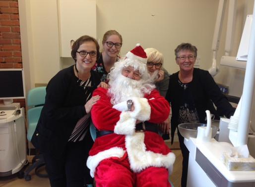Santa visits Focus on Smiles!