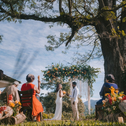Renewing Vows on a hilltop  in Cameron Highlands
