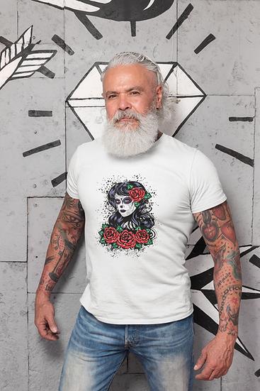 Men's Skull with Roses T-Shirt