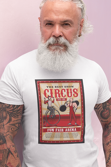 Men's Vintage Style Circus Poster
