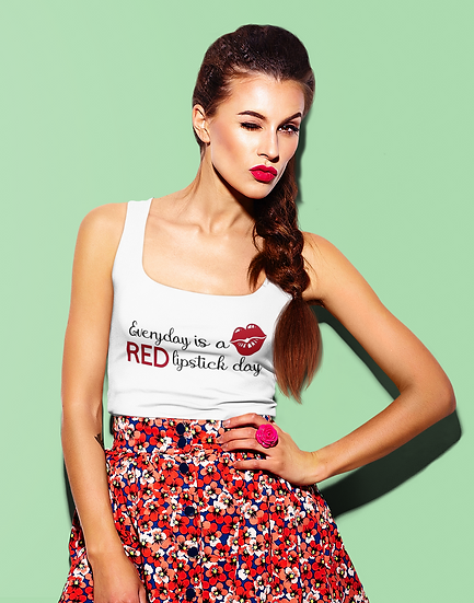 Everyday is a Red Lipstick Day Vest
