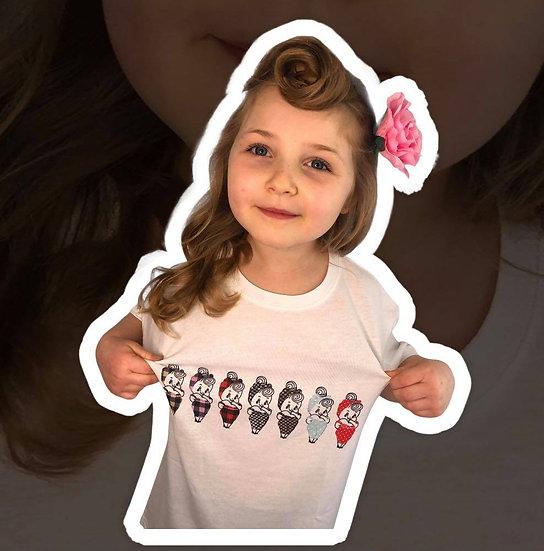 Children's Patterned Kewpie T-Shirt