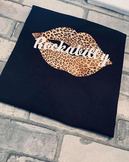 Rockabilly Leopard Print Lips