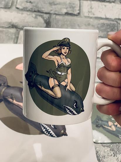 Pinup Army Girl Mug