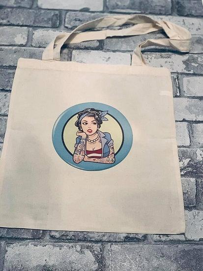 Tattooed Girl Tote Bag
