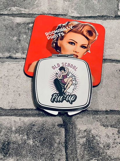 Old School Pin Up Compact Mirror