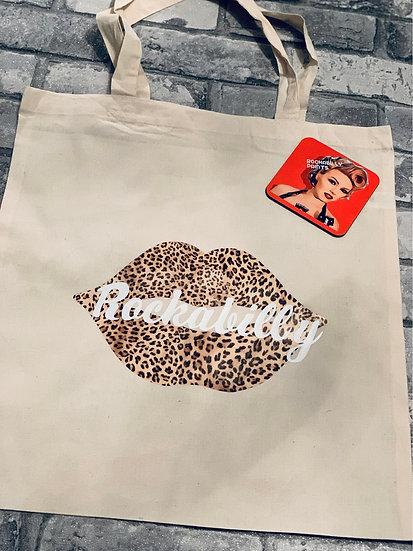 Leopard Lips Rockabilly - Tote