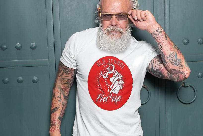 Men's Old School Pin Up T-Shirt