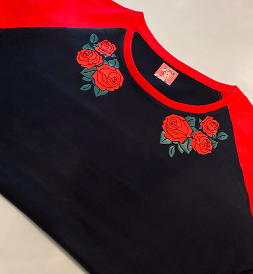 Short Sleeve Collared Roses
