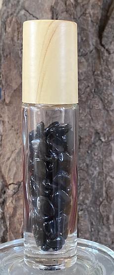 בקבוק קריסטל רב פעמי אובסידיאן שחור