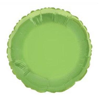 "Balloon Foil 18"" Round Lime Green"