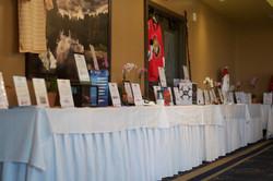 Silent auction set up
