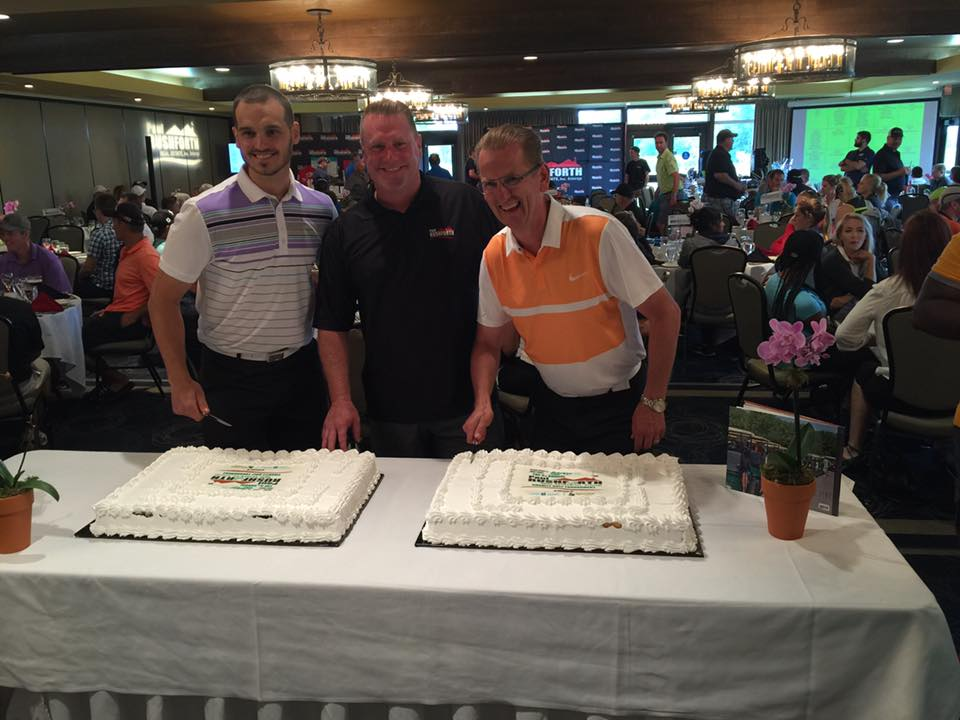 PRGolf2016 - 5th anniversary cake cutting