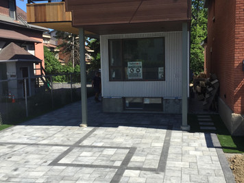 modern interlock driveway landscaping ot