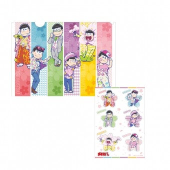 Osomatsu-san Clear File with Sticker Set