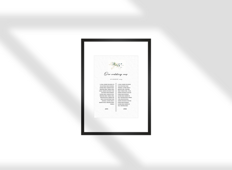 How to print your wedding vows yourself. [Free Resource]